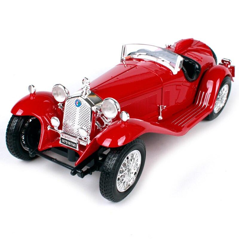 Bburago 1 18 alfa 8c 2300 spider touring blue red car diecast 245 102 70mm classic