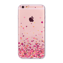 Silicone Cases with Pink Hearts for iPhone