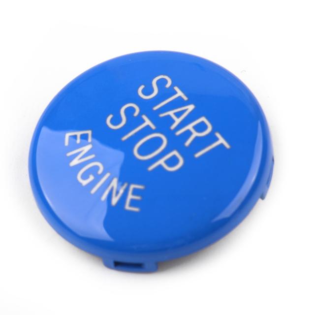 DWCX ABS Car Engine Ignition Start Stop Switch Push Button Ring Trim Cover Fit For BMW 3 5 Series E90 E91 E92 E93 E60