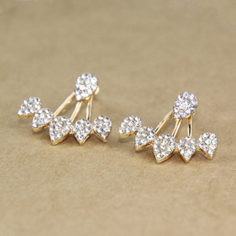 Pearl Geometry Stud Earrings 4