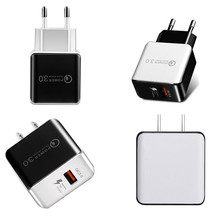 QC3.0 Fast Wall Charger USB Quick Charge 5V 3A 9V 2A Travel Power Adapter Fast Charging US EU Plug for iPhone Samsung Smartphone quick charge 3 0 usb charger travel for iphone samsung micro usb type c fast charging 3 ports eu us plug mobile phone charge