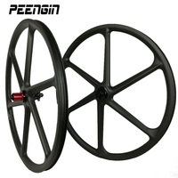 29er carbon 3k 6 spokes wheels mountain bike six spoke wheelset 27.5 inch MTB bicycle parts 26er for sale 650B cycling component