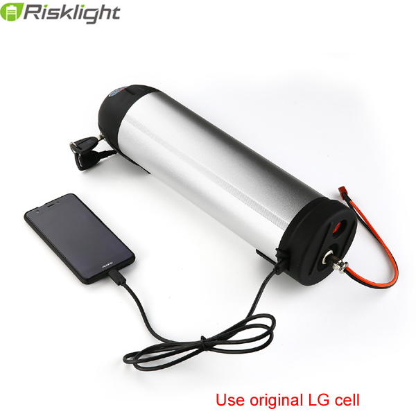 48 v 750 w Batterie De Vélo Électrique 48 v 17Ah lithium ion Argent Bouilloire Batterie avec BMS et Chargeur pour LG 18650 cellulaire