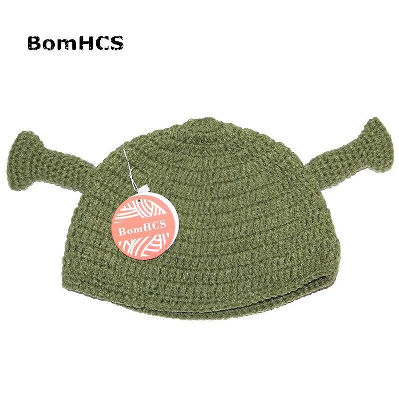c4569cae5 BomHCS Halloween Gift Funny Green Monster Beanie Winter Warm Handmade  Knitting Hat Unisex-in Skullies & Beanies from Men's Clothing & Accessories  on ...