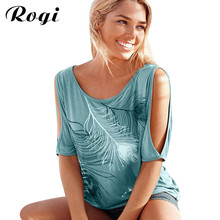 Rogi Blusas Loose Sexy Off Shoulder Blouse