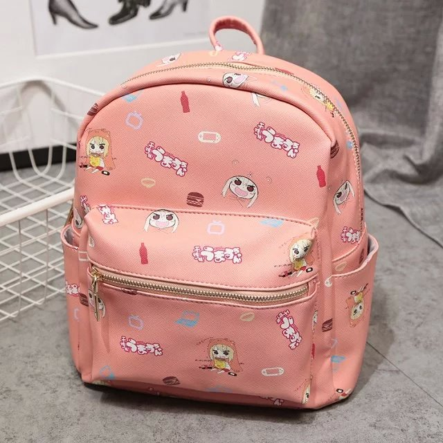 Japan anime Himouto! Umaru-chan Backpack School Bag Shoulder bag printing pink Backpack