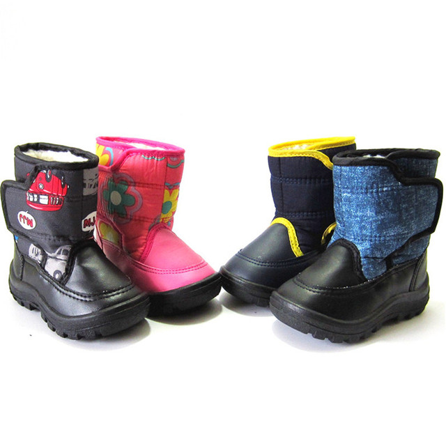 Maggie s Walker Shoes Kids Winter Children Snow Boots Baby Toddler Warm Shoes  Rubber Boots for Girls and Boys Leather Snowshoes 90e683401983