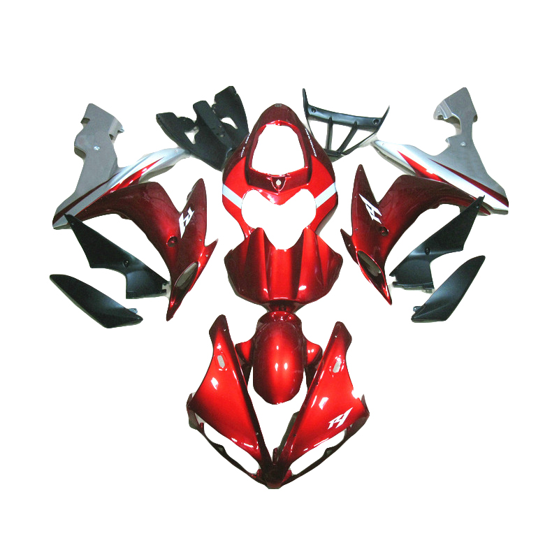 Hot sale fairing for  2004 2006 wine red YAMAHA R1 YZF R1 fairings kit for 04 06 free custom injection molding LY42 high quality abs fairing kit for yamaha r1 2002 2003 red flames in black fairings set injection molding yzf r1 02 03 yz32
