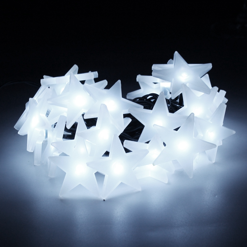 5M Solar Powered 30 LED String Light Christmas Bulb Star LED String Fairy Light Wedding Outdoor Decor Lamp Lighting