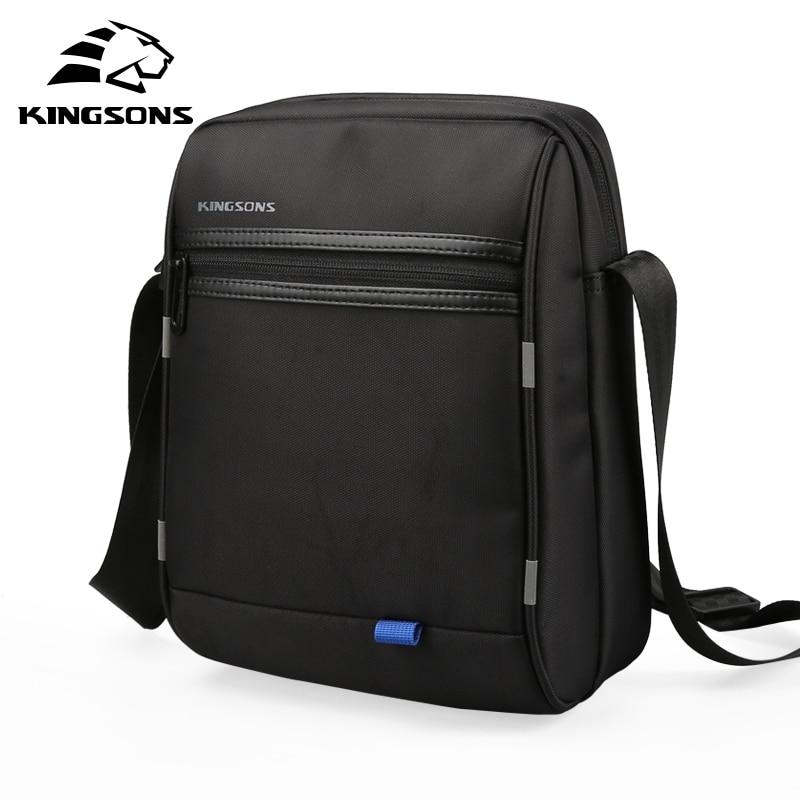 Kingsons 10.1 inch Casual Business Man Bag Waterproof Messenger Handbag Vintage Men's Shoulder Crossbody Bag New Arrivals