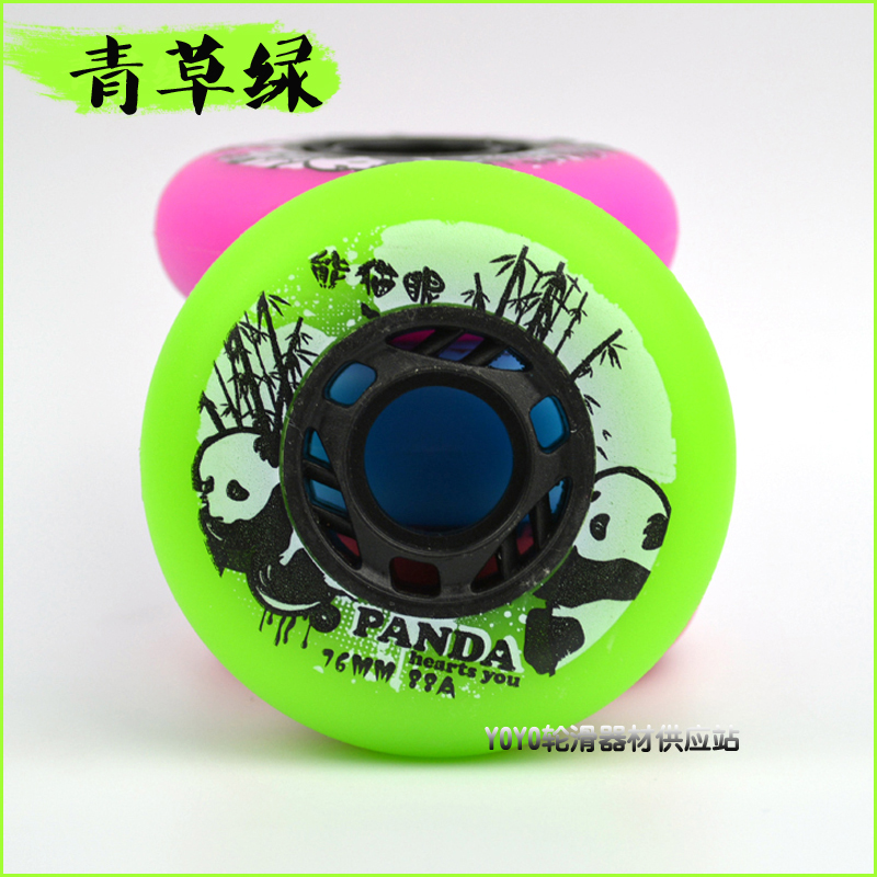 8 PCS/Lot Roller Skate Wheels 88A PU 72MM 76MM 80MM Skating Wheels Green Blue Red Pink Colors