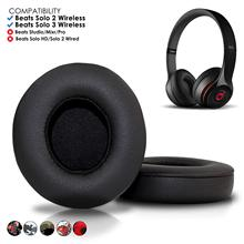 цена на Beats Solo 2 & 3 Wireless Earpad Replacement - Beats Solo Cushion Replacement for Solo 2 & 3 Wireless On Ear Headphones
