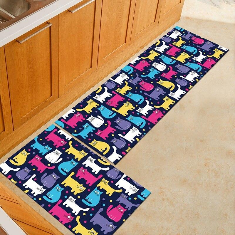 flamingo cat kitchen mat animal printed kitchen mats cooking rugs