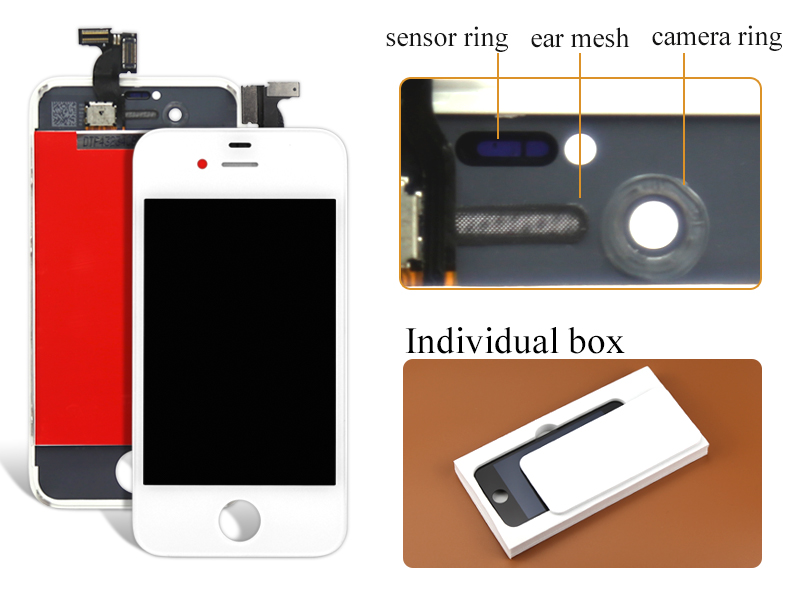 alibaba china highscreen 1pcs White/black Quality AAA+++ For Iphone 4s Lcd Display Touch Screen Digitizer Assembly Free Shipping 1 pcs for iphone 4s lcd display touch screen digitizer glass frame white black color free shipping free tools