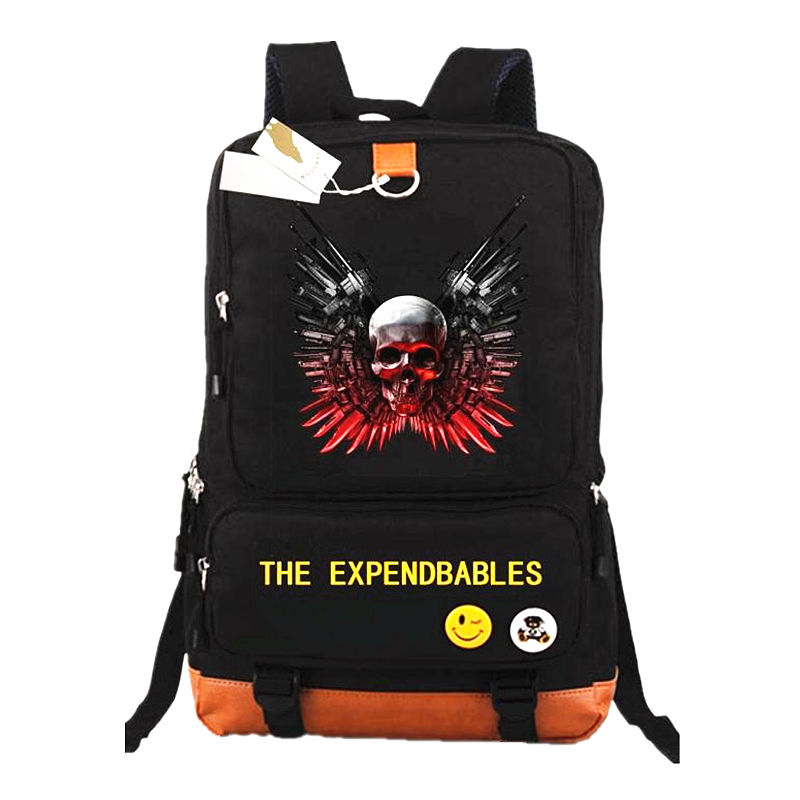 New arrival Expendbables Backpack Death squads Backpacks Laptop Bags For Boys Girls School Rucksacks Kids Best Gift School Bags