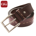2016 GSG Fashion Brand Durable Leather Belt for Men Casual Striped Belts Male Vintage Waistband Ceinture Homme Fathers Day Gift