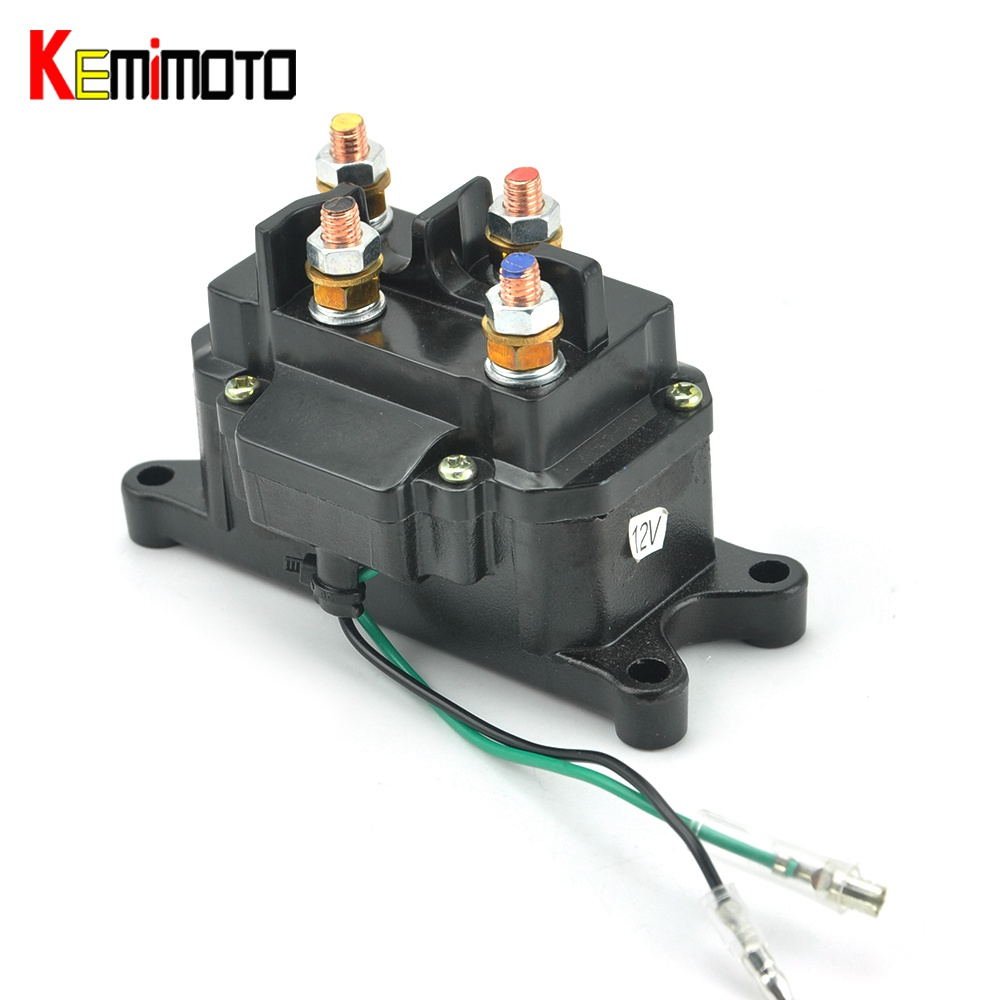 KEMiMOTO For Polaris RZR 900 RZR XP 1000 ACE 570 ATV UTV Winch Solenoid Contactor For Ramsey Warn Superwinch Champion Winch