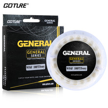Goture 30M Fly Line Fishing Cord Weight Forward Floating Lines WF3F-8F PVC + Dacron Braided Line Bright Color For Trout Fishing
