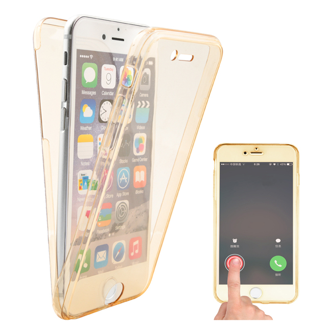 new products da505 360a1 US $1.5 |Two Crystal Case Shockproof Soft TPU Clear Phone Cover for iPhone  6 6s 6 plus 6Splus 7 7Plus 8 8Plus 360 Full Protect Slim Cases-in Fitted ...