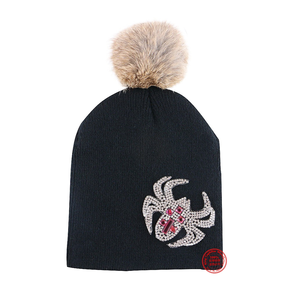 0-2 year old girl boy lovely beanies baby winter hat cap children colorful cotton thermal real animal fur pompom gorros skullies