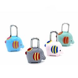 Симпатичный, в форме слона замок с паролем мультяшный замок для багажа замок из сплава цинка для путешествий сумка почтовая коробка