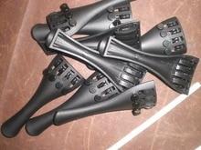 50 PCs Violin Tail piece 4/4 Carbon fiber Violin tailpiece with fine tuners