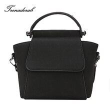 Trenadorab Nubuck Leather Women handbag Vintage Women Messenger Bag Fashion Lock Female Shoulder Bag Trapeze Stlye Women Bag
