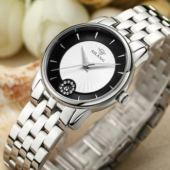 Fashion Simple Women Crystals Brand Watches Business Elegant Lady Quartz Watch Full Steel Bracelet Wrist watch Calendar Relogios