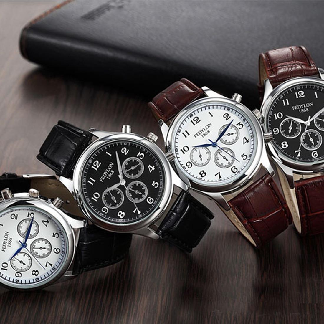 online get cheap nice watch brands aliexpress com alibaba group nice leather business quartz watch fashion casual mens watches luxury brand high quality men waterproof wristwatch