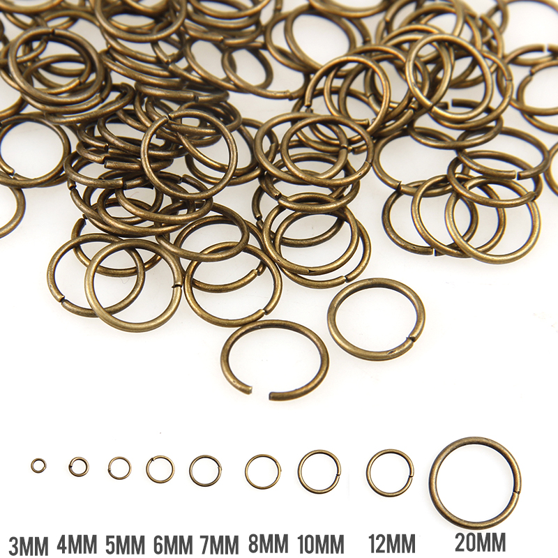 Antique Bronze Mixed Color 3/4/5/6/7/8/10/12/20mm Tone Metal Open Jump Rings Necklace Close Tool Ring DIY Jewelry Making livolo us au standard wall light touch screen remote switch 3gang 2way ac 110 250v vl c503sr 11 12 without remote
