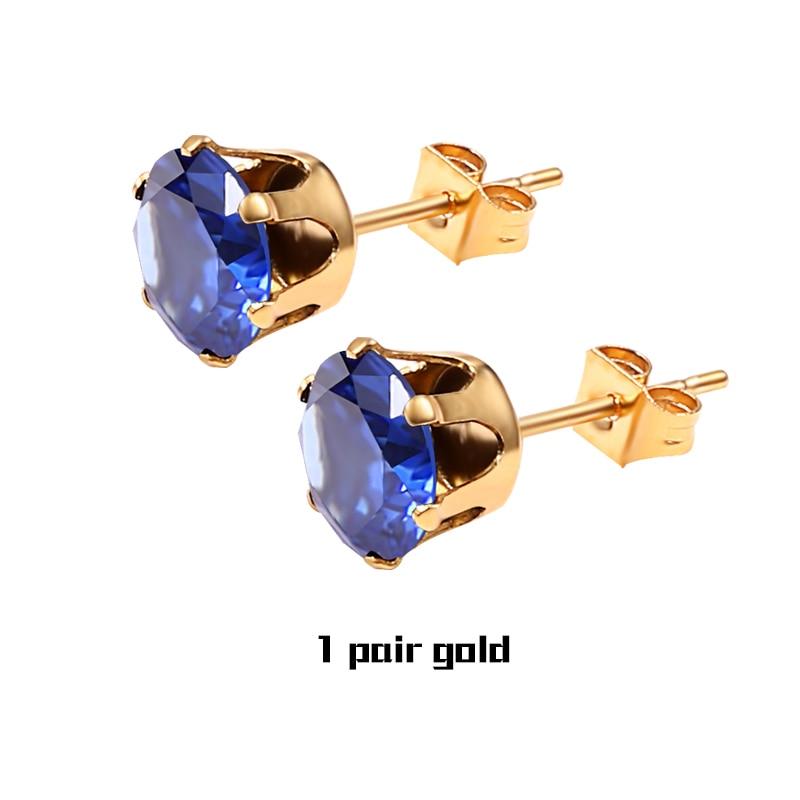 1 Pair Blue Gold