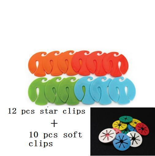 22 piunids/lote calcetín CLIPS calcetín soporte anillos Paquete de coloridos calcetín organizadores Sorters cerraduras Clips lavandería