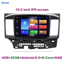 Aoluoya IPS 4G RAM 32G ROM Octa Core Android 8.0 CAR DVD GPS Player For Mitsubishi Lancer 2007-2014 2015 Radio GPS Navigation BT