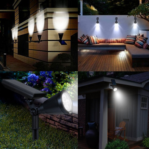 led solar landscape lampada luz para jardim ao ar livre