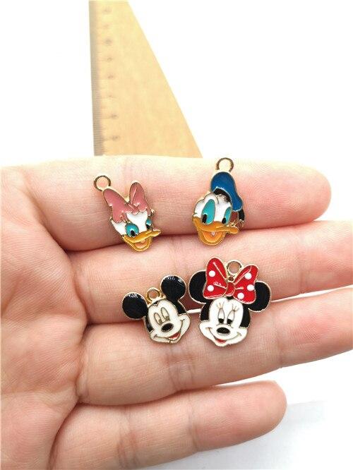 Lot cartoon mickey minnie Metal Charms DIY Jewelry Making necklace Pendants