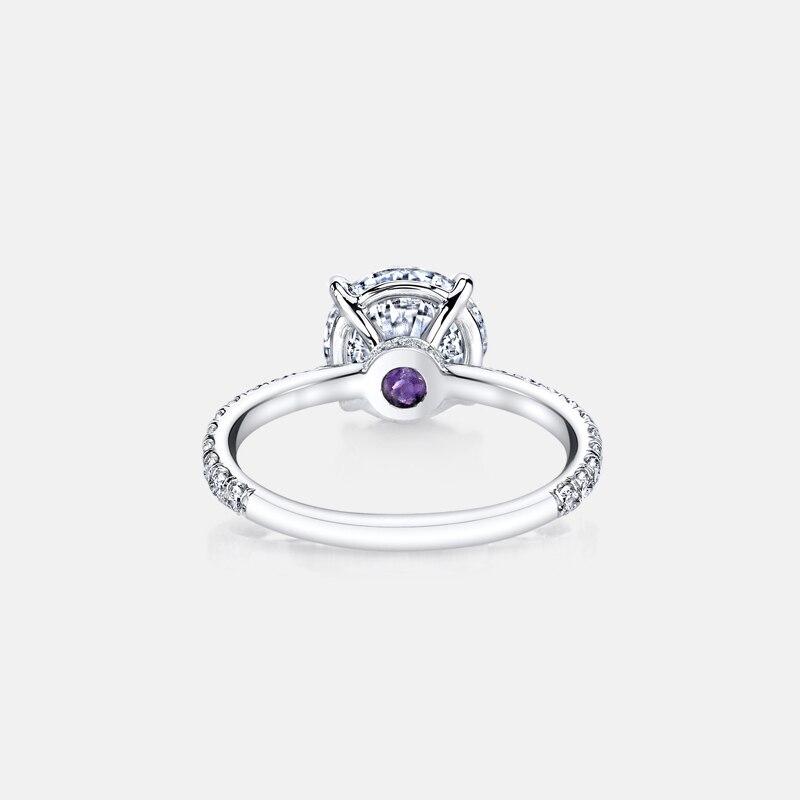 925 bague en argent Sterling 3 carats taille ronde SONA classique bague de fiançailles pour les femmes bague de promesse de mariage bijoux - 4