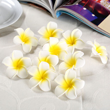 10pcs Table Decorations Plumeria Hawaiian Foam Frangipani Flower for Wedding Party Decoration Romance Dia4cm 1.57inch
