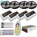10M 15M 20M RGBW RGBWW Led Strip Light DC12V Waterproof 5050 SMD  + mi-light Led Controller + Power adapter Kit
