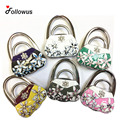 Floral Bag Look Hook Metal Foldable Bag Purse Hook Bag Hanger Purse Handbag Holder Bag Folding Table Rhinestone Hook