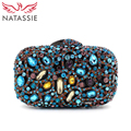 NATASSIE New Women Luxury Crystal Evening Handbag Clutch Purse Beautiful Wedding Party Bag L1095