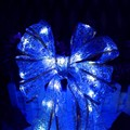 Battery Led String light Lace Ribbon bow-knot for Chirsmas tree Marriage room wedding Powered by 3*AA 4M 40led free shipping