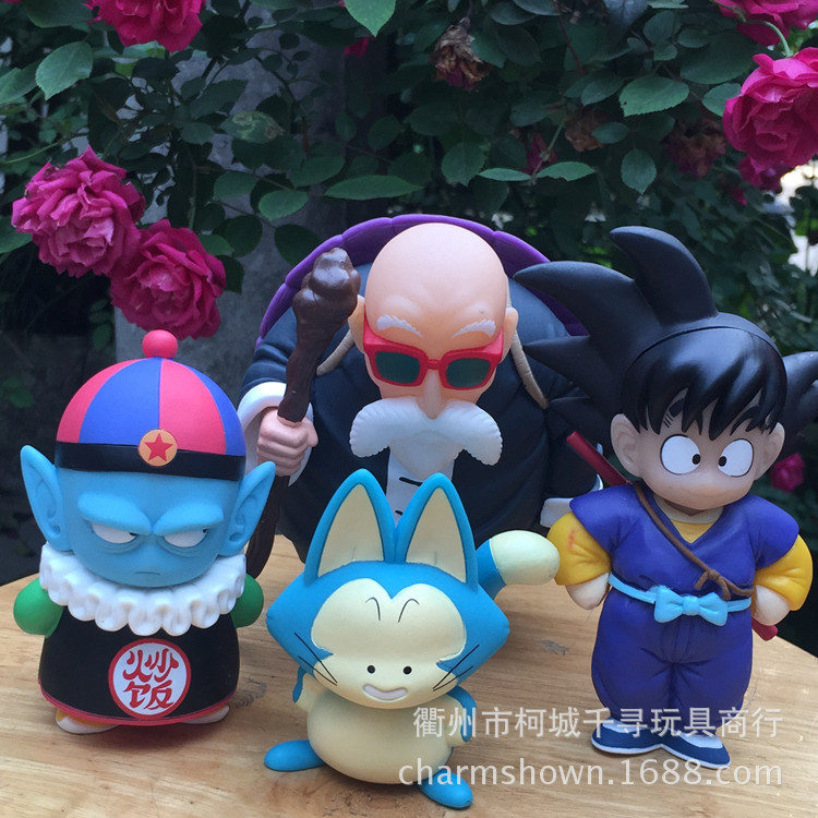 4pcs/set Dragon Ball Z Sun Goku Pilaf Puar Master Roshi Action Figure PVC Collection figures toys for christmas gift brinquedos 12pcs set children kids toys gift mini figures toys little pet animal cat dog lps action figures