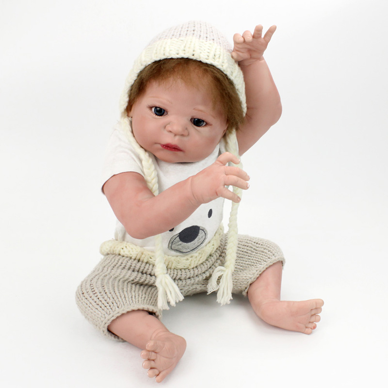 Reborn Babies Girl Doll 55cm Soft Full Silicone Reborn Dolls 22inch Realistic Lifelike BeBe Reborn Playmate Kids Toys npkdoll bebe reborn baby doll realistic soft silicone reborn babies juguetes girl 22 inch 55cm adorable kids brinquedos toy