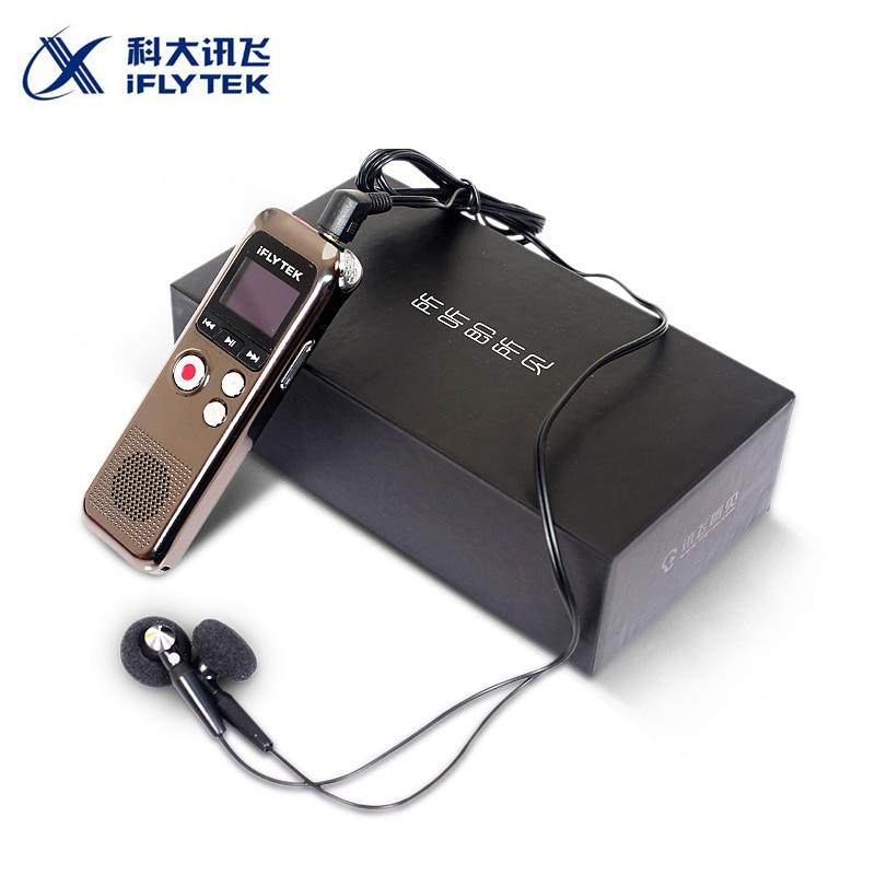 Iflytek Portable enregistreur vocal numérique MP3 stylo d'enregistrement prend en charge Mp3 Format WAV avec carte mémoire 8 GB Version chinoise