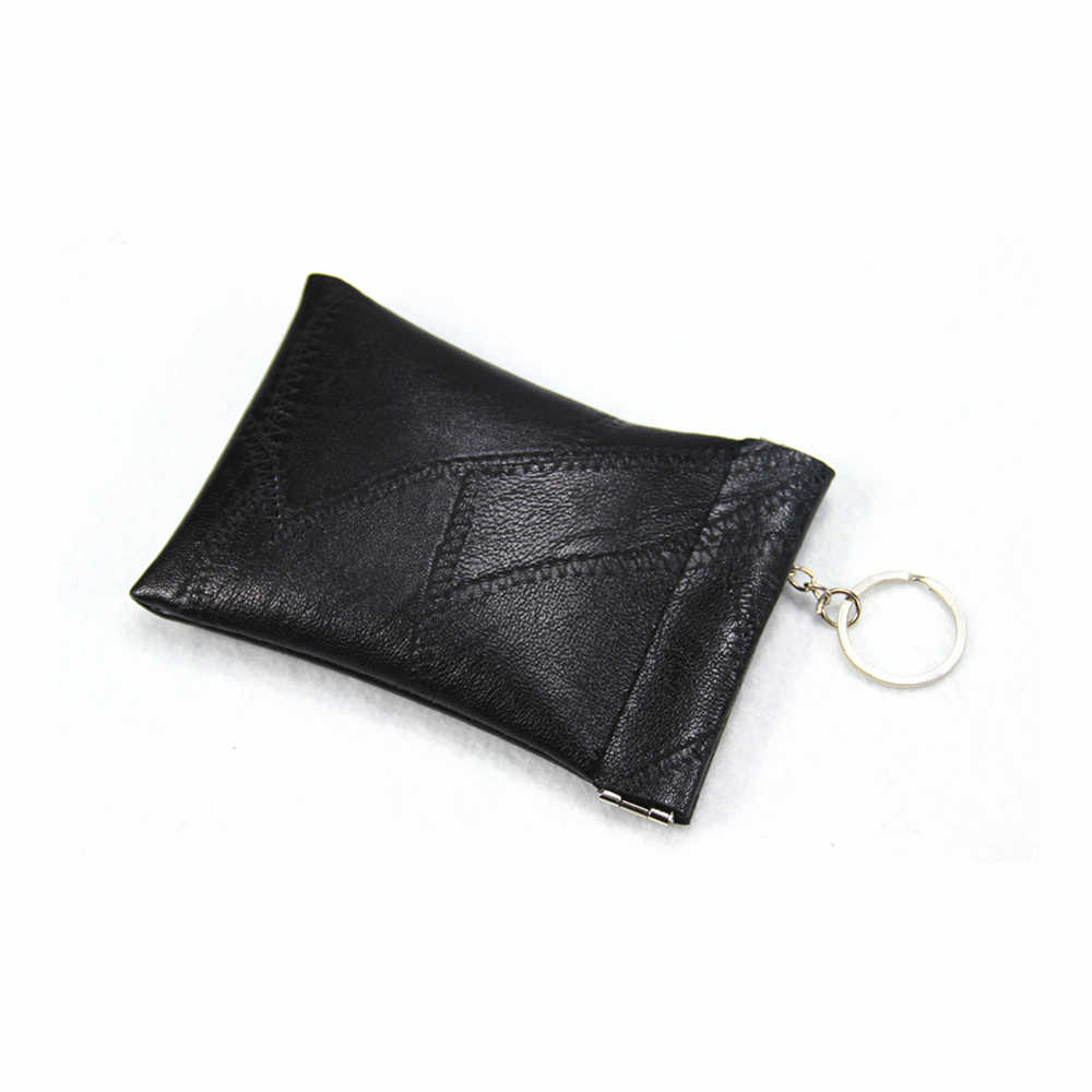 Lralra nueva moda de cuero bolsillo largo cartera clave llavero moneda monedero de los hombres y las mujeres corto dinero Cambio de bolsa de tarjeta titular de la