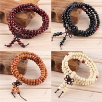 6mm natural sandalwood buddhist buddha meditation 108 beads wood prayer bead mala bracelet women men jewelry.jpg 200x200