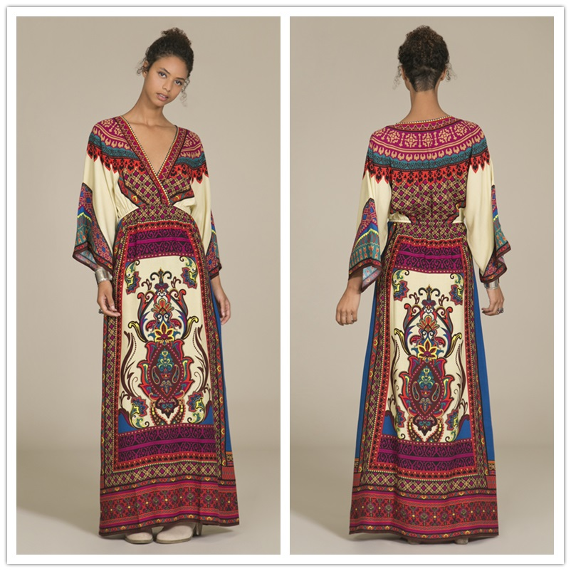Summer maxi dress boho clothing mexican embroidered dress vintage mexican dress mexican clothes boho chic dresses AA1376