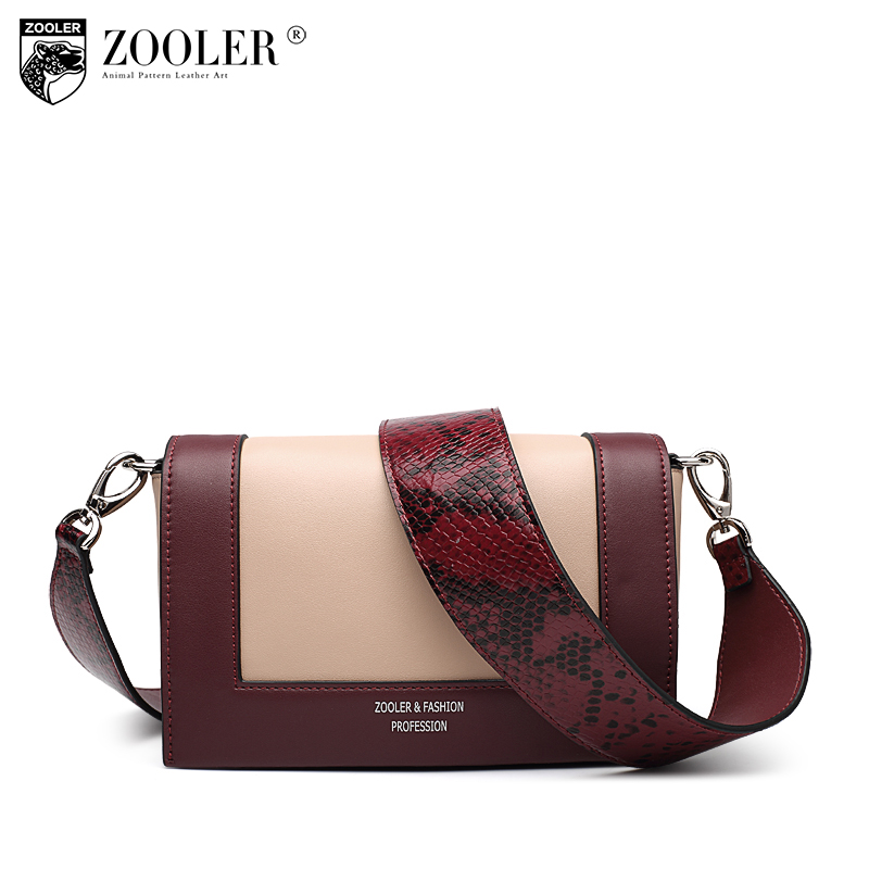 sales ZOOLER 2018 patchwork designed woman bag 100% cowhide women cross body bags skin cowhide bag genuine leather handbag #S101 yuanyu 2018 new hot free shipping real python skin snake skin color women handbag elegant color serpentine fashion leather bag