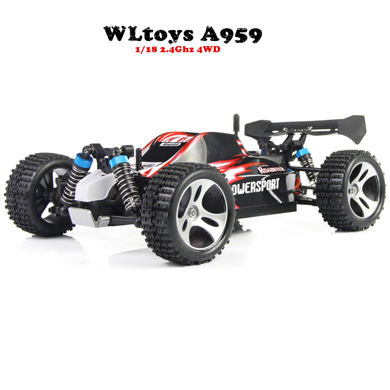 WLtoys A959 Electric Rc Car Nitro 1/18 2.4Ghz 4WD Remote Control Car High Speed Off Road Racing Car Rc Monster Truck For Kids mini rc car 1 28 2 4g off road remote control frequencies toy for wltoys k989 racing cars kid children gifts fj88