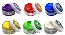 1pc Hair color wax dye temporary molding paste 8color BLUE Burgundy grandma gray green hair dye wax mud styling pomade